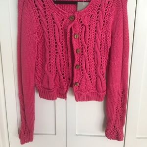 Anthropology pink knit sweater!